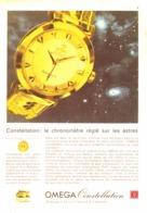 """PUB MONTRE   """" CONSTELLATION  AUTOMATIC  """"  """" OMEGA """"  1950'S ( 7 ) - Bijoux & Horlogerie"""