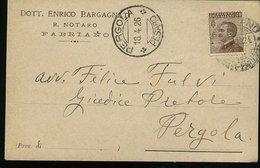 WD113 FABRIANO 1926  - COMMERCIALE DOTT. ENRICO BARGAGNATI , R. NOTARO - Italia