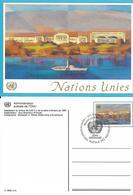 Onu, United Nations, Nations Unies,genève, Entier Postal 1992, Carte Fdc, 0.90 Fs, Palais Des Nations - Genf - Büro Der Vereinten Nationen