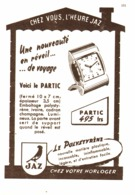 "PUB REVEIL "" PARTIC ""  "" JAZ  ""  1950 - Bijoux & Horlogerie"