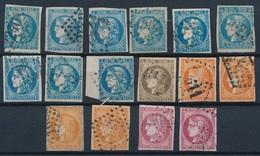 """N-272: FRANCE: Lot """"BORDEAUX"""" 2ème Choix à Défectueux Avec N°46A-46B(8)-47-48(4)-49(2) - 1870 Bordeaux Printing"""