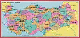 Divisions Administratives De Turquie. 1970. - Vieux Papiers