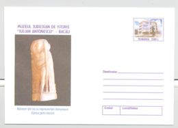 ARCHAEOLOGY, DACIAN BONE ARM SHIELD, COVER STATIONERY, ENTIER POSTAL, 2001, ROMANIA - Archéologie
