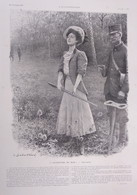 Illustrations De Louis SABATTIER  L'Ouverture Du Bois (Une Novice)  1907 - Collections