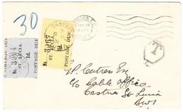 1931 Brief Aus London Nach Castries 1+2 D Portomarken Von St. Lucia - St.Lucia (...-1978)