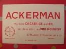 Buvard Ackerman Laurance. Vins Mousseux. St Hilaire St Florent Saumur. Vers 1950. - Blotters