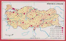 Répartition De La Population En Turquie. 1970. - Vieux Papiers