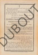 Doodsprentje Joannes Fransiscus Verboven °1807 Geel †1874 Stelen / Echtg. Maria Anna Nietvelt  (F214) - Obituary Notices