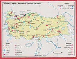 Ressources Minières, Industries Et Centrales électriques En Turquie. 1970. - Vieux Papiers