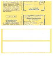 BRIAT Carnet Fictif Réglage Sagem Sans Impression Timbre Massicotage Décalé Briat Yv 2874-C8 Pré-timbrée N° Série 921359 - Definitives