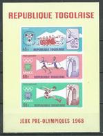 Togo Bloc-feuillet YT N°29 Jeux Olympiques De Mexico Et D'hiver Grenoble 1968 Neuf ** - Togo (1960-...)