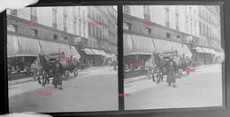Plaques Stereoscopique 16x8 - Livraison Hippomobile (vin ?) Paris (513-2, DIV-1) - Plaques De Verre