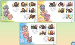 Sri Lanka Stamps 2018, 18 Sanni, Traditional Sinhalese Exorcism Rituals, Masks, FDCs - Sri Lanka (Ceylan) (1948-...)