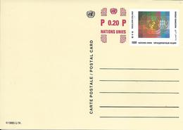 Onu, United Nations, Nations Unies,genève, Entier Postal 1996, Carte Neuve, 0.50 Fs+0.20 , Logo Multicolore - Briefe U. Dokumente