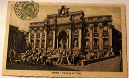 ITALIA 1920, ROMA FONTANA DE TREVI,  BELLA AFFRANCATURA - Fontana Di Trevi
