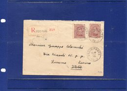 ##(ROYBOX1)-Postal History-Belgium 1922-Registered Cover From Trois Ponts To Livorno - Italy - Stamps On Back Cover - België