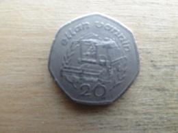 Ile De Man 20  Pence  1991  Km 211 - Regional Coins
