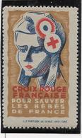 France Vignette Croix Rouge - Neuf ** Sans Charnière - TB - Commemorative Labels