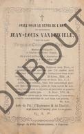 Doodsprentje Jean-Louis Vandewiele °1795 Courtrai/Kortrijk †1866 Veuf De Virginie Constance Eykens (F220) - Obituary Notices