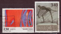 FRANCE - 1993 - YT N° 2797 / 2798 - Oblitérés - Europa - France