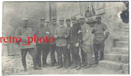 Photo Guerre 1914/1915 - Officiers De L'Ambulance 7 Du XVe ( Croix-Rouge ) - Guerre, Militaire
