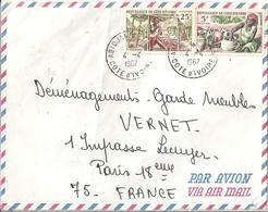 Cote D'Ivoire Lettre Affranchie - Côte-d'Ivoire (1892-1944)