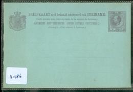 SURINAME 5 CT BRIEFKAARTONGEBRUIKT 2 X MET BETAALD ANTWOORD + BETAALD ANTWOORD *  (11.486) - Suriname ... - 1975