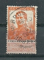 116 Gestempeld BRUSSEL - BRUXELLES 5 A - COBA 4 Euro - 1912 Pellens