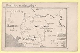1ww Zona Di Guerra Serbia Bosnia Montenegro Kriegsgebieten - Weltkrieg 1914-18