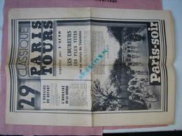 Course PARIS-TOURS  29me 1934  Supplement De Paris-Soir - Cyclisme