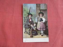 Boy With Shotgun & Girl With Large Stein  Ref 3099 - Europe
