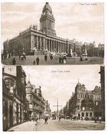 Lot De 2 CPA : LEEDS  - Town Hall  & Vicar Lane - Leeds