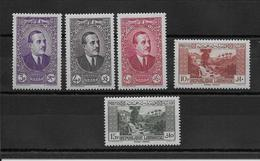 Grand Liban N°152/156 - Neuf * Avec Charnière - TB - Great Lebanon (1924-1945)