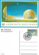 Onu, United Nations, Nations Unies,vienne, Entier Postal 1992, Carte Fdc, 6 S, Centre International De Vienne, Globe - Centre International De Vienne