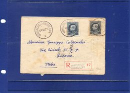 ##(ROYBOX1)-Postal History-Belgium 1922-Registered Cover From Bruxelles To Livorno - Italy - België