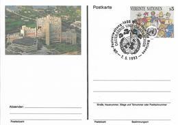 Onu, United Nations, Nations Unies,vienne, Entier Postal 1993, Carte Fdc, 5 S, Centre International De Vienne, - Centre International De Vienne