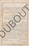 Doodsprentje Maria Catharina Cleiren °1815 Lillo †1876 Wortel Hoogstraten /Wwe. Joannes De Bie (F227) - Obituary Notices