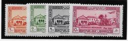 Grand Liban Poste Aérienne N°75/78 - Neuf * Avec Charnière - TB - Great Lebanon (1924-1945)