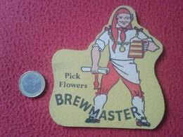 POSAVASOS COASTER BEER MAT CERVEZA ? TROQUELADO PICK FLOWERS BREWMASTER INGLATERRA ? UK ? ENGLAND ? LA BIÈRE BIER VER FO - Portavasos