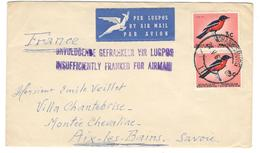 11191 -  INSUFFICIENTLY FRANKED FOR AIRMAIL - Afrique Du Sud (1961-...)