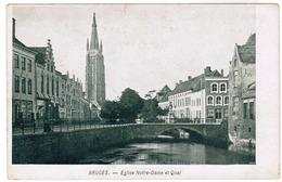 Brugge, Bruges, L'Eglise Notre Dame Et Quai (pk52235) - Damme