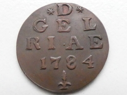 1 Duit, Gelderland, 1784, Koper. - [ 5] Monnaies Provinciales