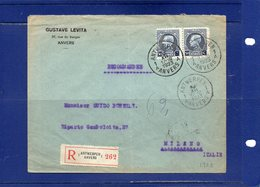 ##(ROYBOX1)-Postal History-Belgium 1923-Registered Cover From Anvers To Milano - Italy - België