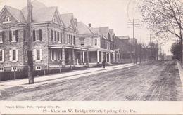 Alte  AK  SPRING CITY / Pennsylvania / USA   - Bridge Street - Gelaufen 1907 - Other
