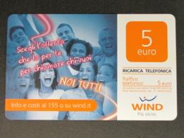 ITALIA WIND - NOI TUTTI - 31/12/2015 A AL VERSO SUPPORTO OPACO USATA - Schede GSM, Prepagate & Ricariche