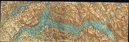 WD130 MAPPA  DOPPIA DEL CONFINE ITALO SVIZZERO, PALLANZA LUINO BRISSAGO LOCARNO - TI Tessin