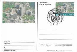 Onu, United Nations, Nations Unies,vienne, Entier Postal 1993, Carte Fdc, 6 S,centre International De Vienne, - Centre International De Vienne