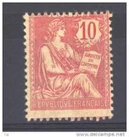 France  :  Yv  124  * GNO    ,                N6 - 1900-02 Mouchon