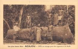Côte D' Ivoire / Ethnic H - 100 - Bille Au Traçage Pour être équarrie à La Hache - Côte-d'Ivoire