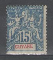 GUYANE:  N°35 *       - Cote 46€ - - Guyane Française (1886-1949)
